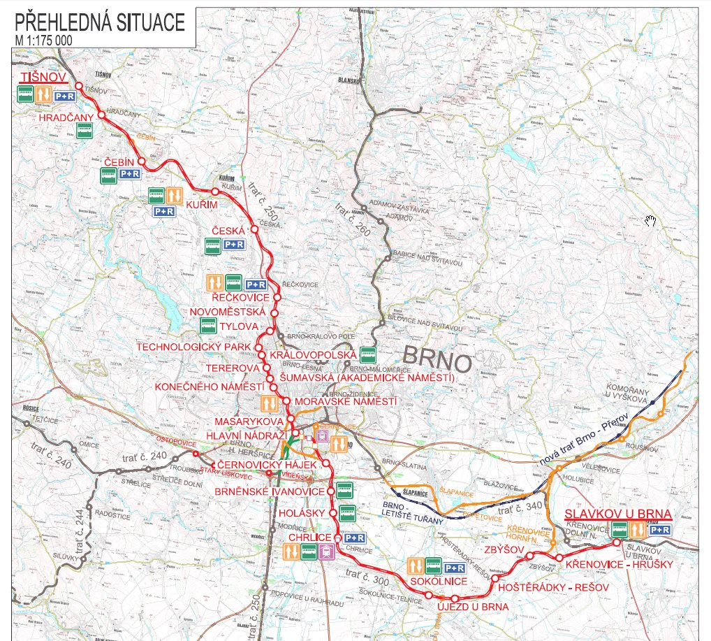 Severo-jižní kolejový diametr. Plánovaná trasa