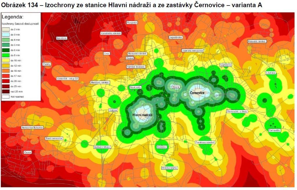 Izochrony Černovice