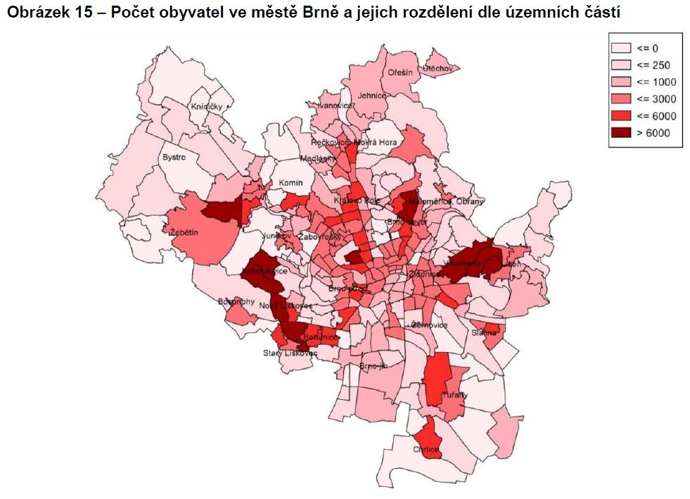 Rozložení obyvatelstva v Brně