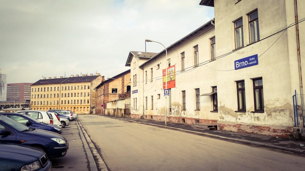 Ulice Rosická na jaře 2018