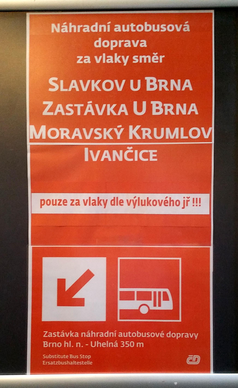 Info o náhradní autobusové dopravě