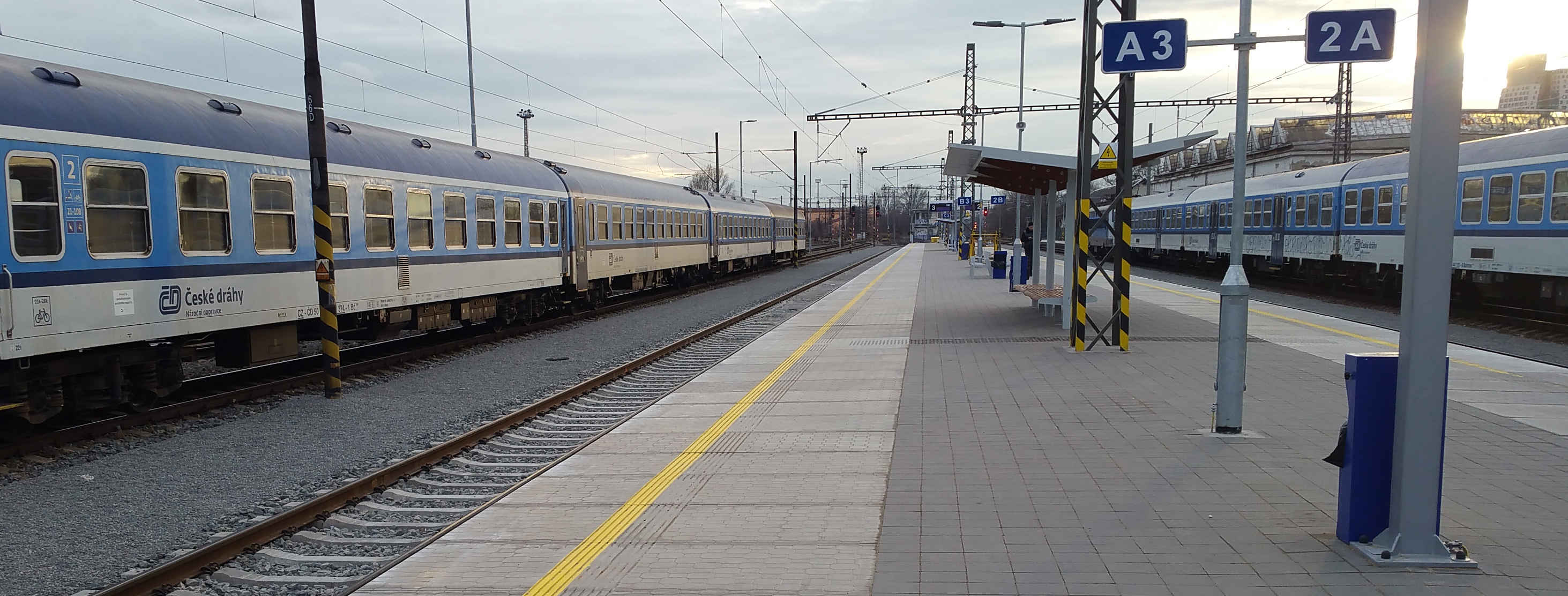Nástupiště na brněnském Dolním nádraží