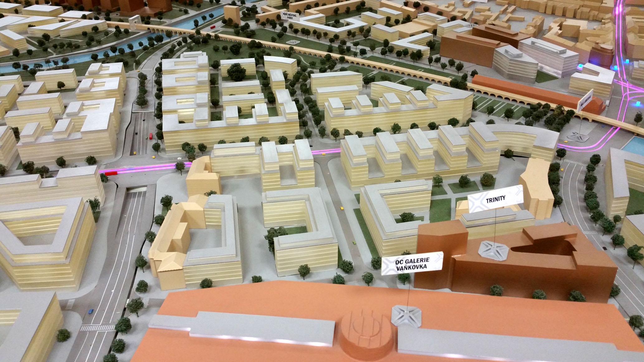 Model jižního centra Brna Zvonařka