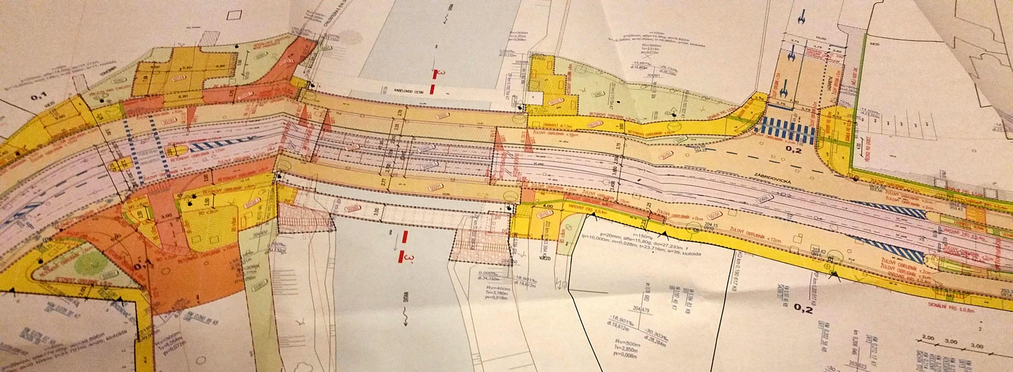 Plán projektu rekonstrukce a výstavby nového mostu Zábrdovice