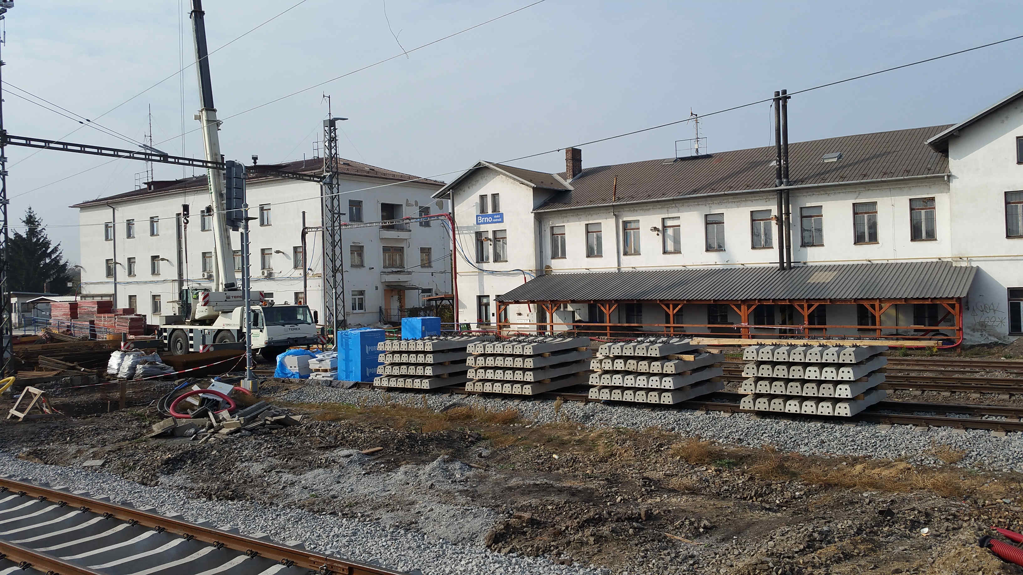 Dolní nádraží v Brně - rekonstrukce v říjnu 2018