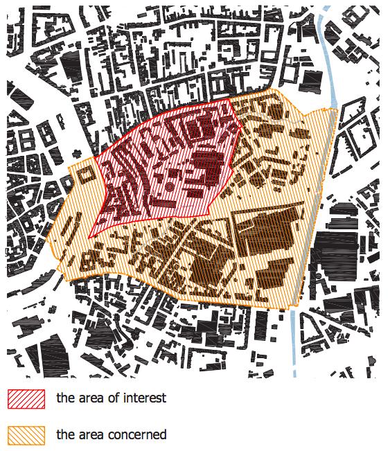 Červeně řešená plocha Špitálky