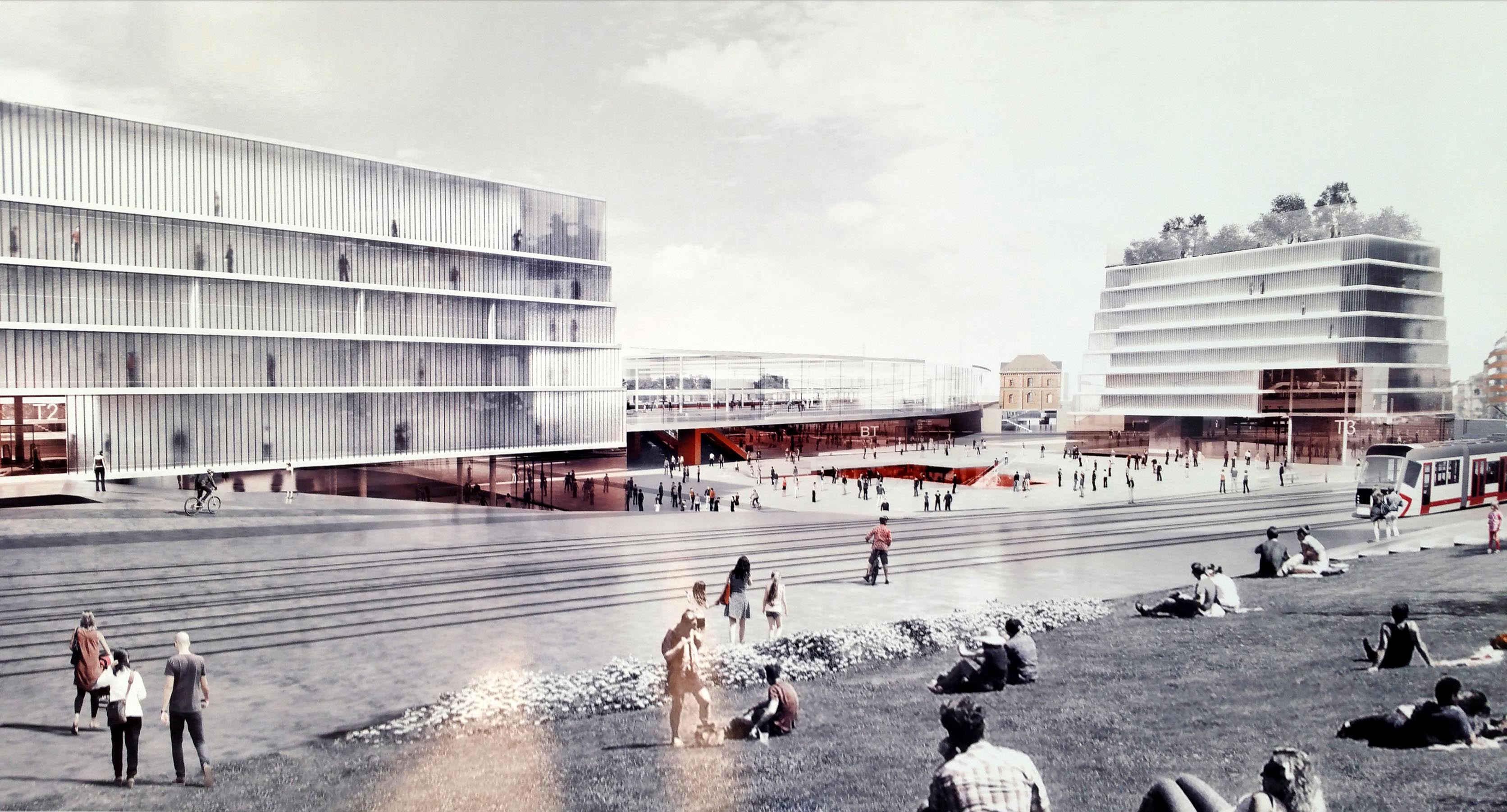 Soutěžní návrhy o nádraží v centru Brna: M. Amerika