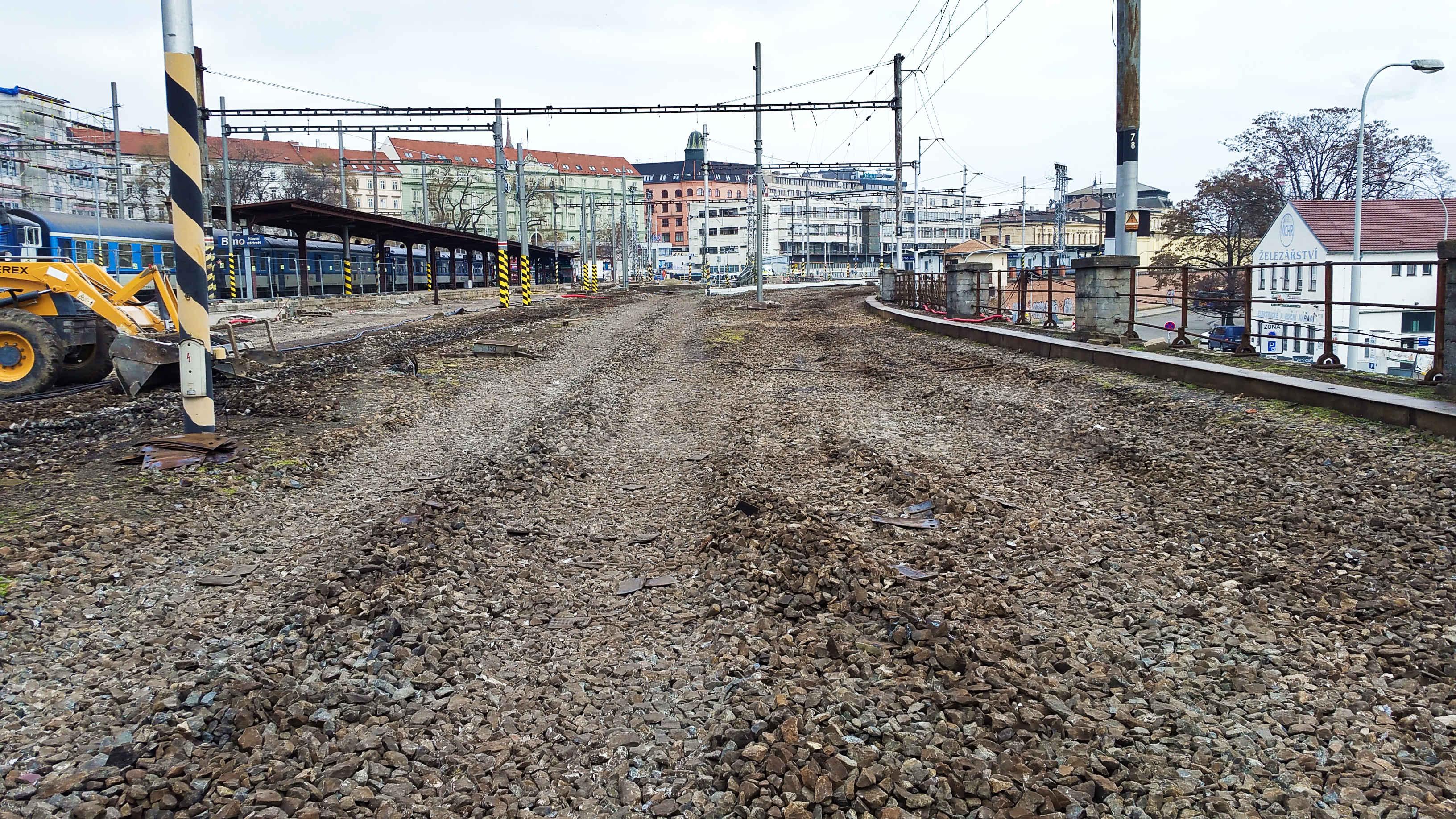 Jižní část brněnského hlavního nádraží