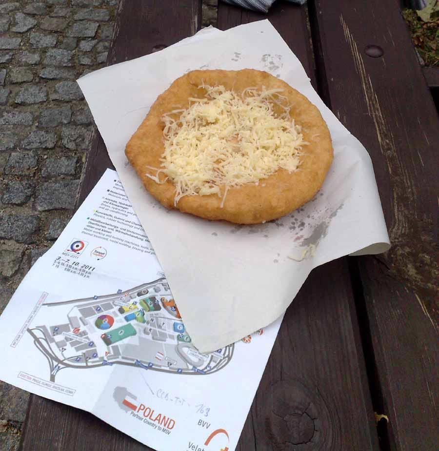 Langoš se sýrem na brněnském výstavišti, rok 2009