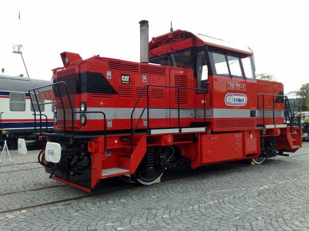 Posunovací lokomotiva na brněnském výstavišti