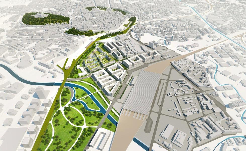 Základní koncepce nového brněnského nádraží a jižní čtvrti Brna