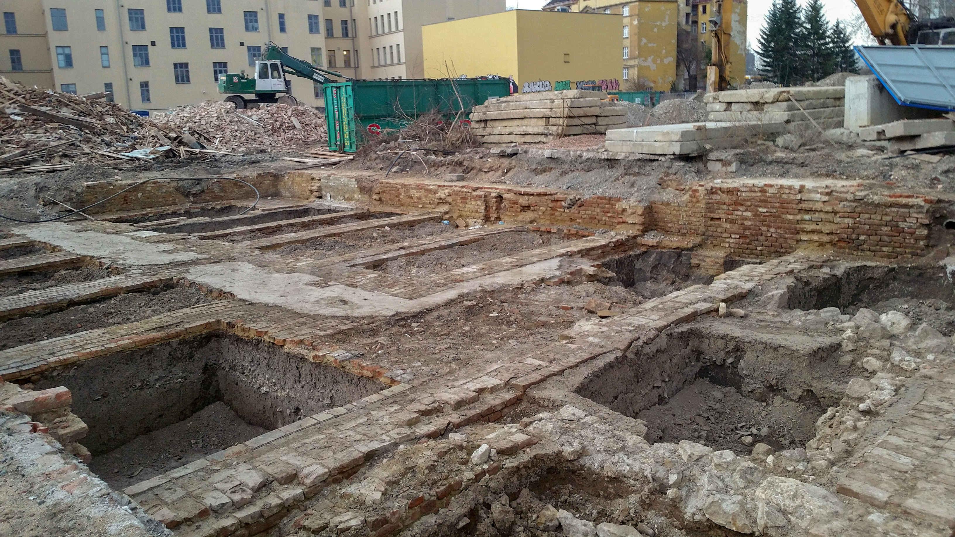 Archeologické vykopávky u ulice Trnitá v Brně