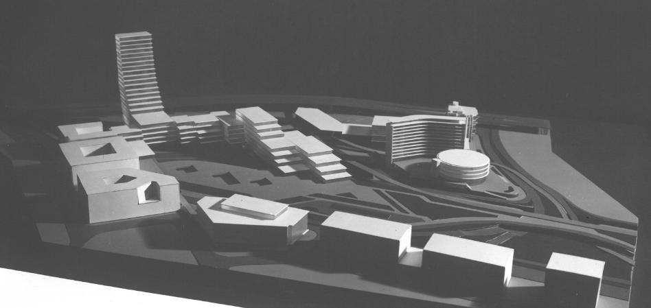 Původní návrh ze 60.let na obchodní centrum jako Brno