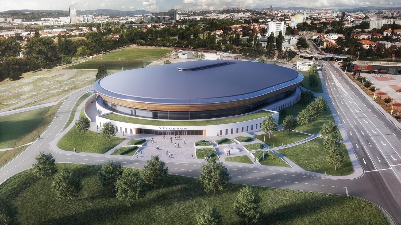 Vizualizace nového velodromu v Brně