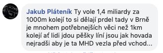 Jakub Pláteník a jeho názor na FaceBooku