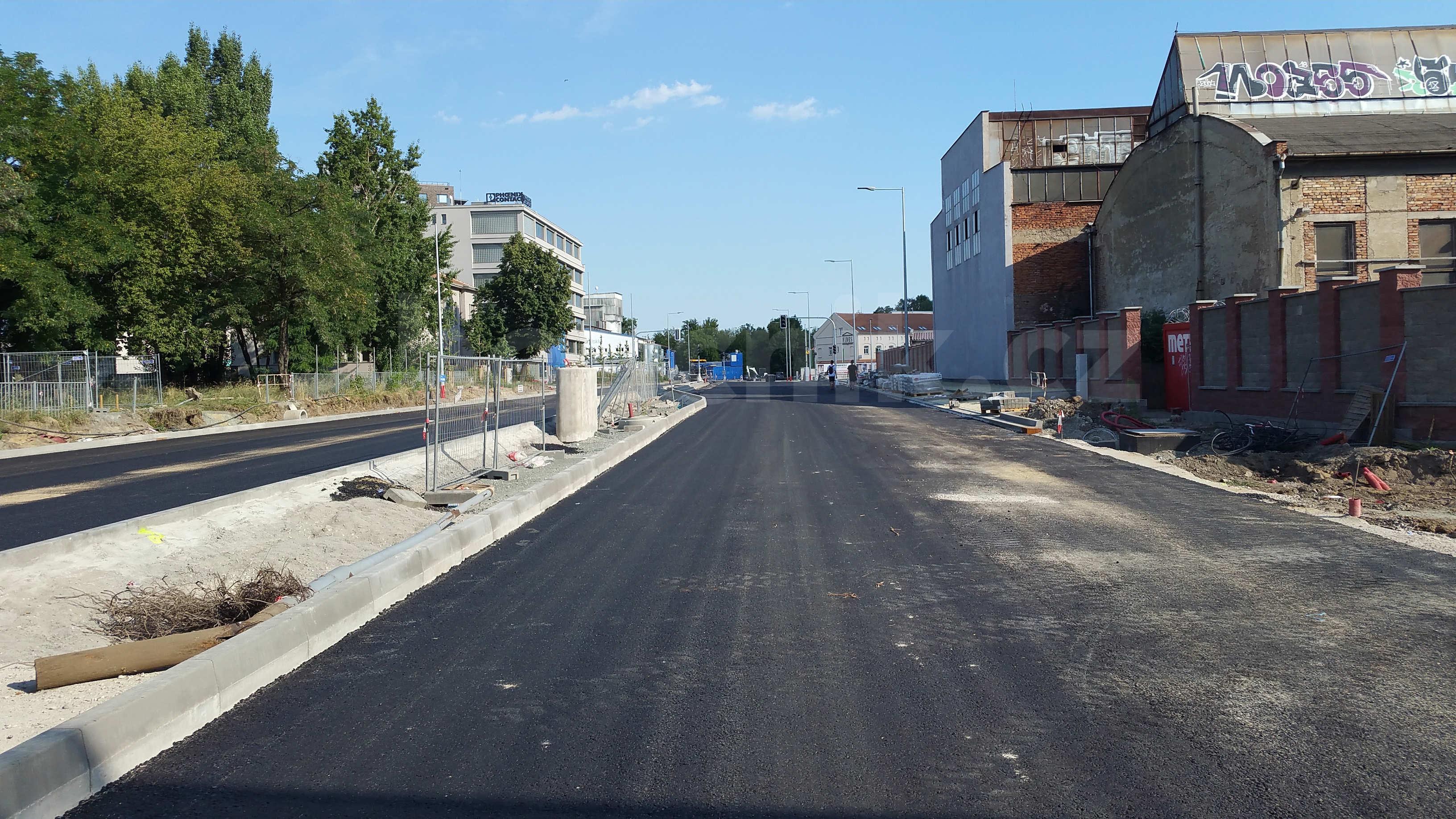 Ulice Dornych a Široká v Brně