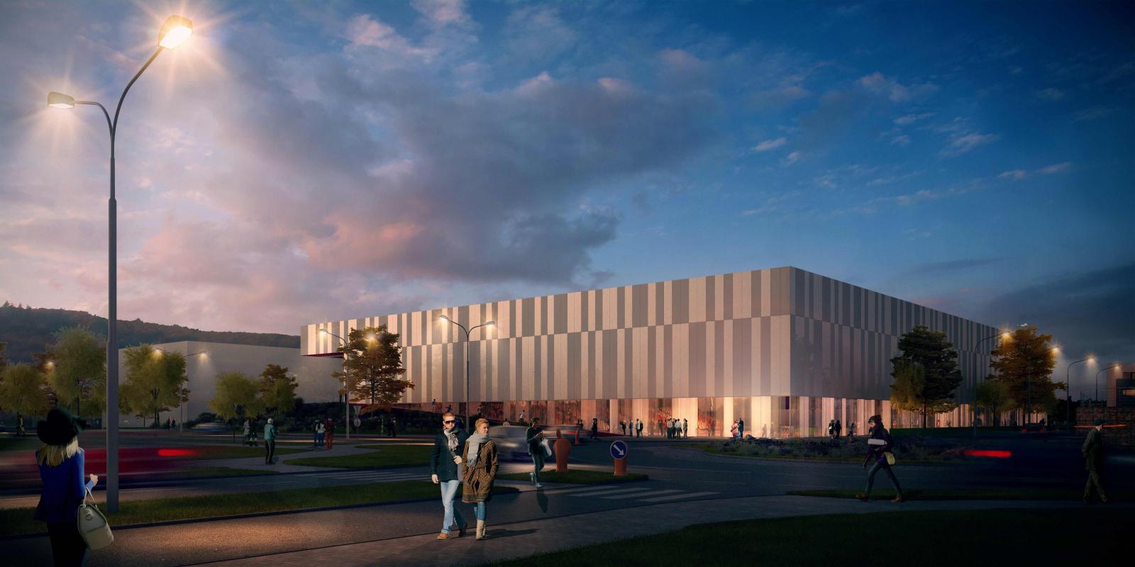 Vizualizace nové sportovní haly v Bohunicích