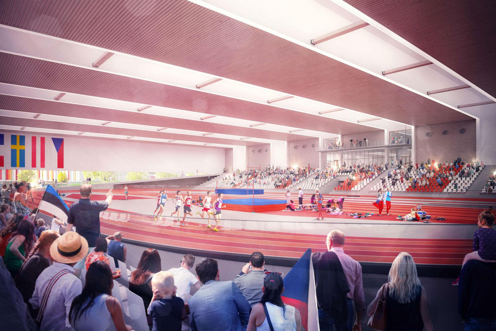 Vizualizace nové atletické haly v Bohunicích