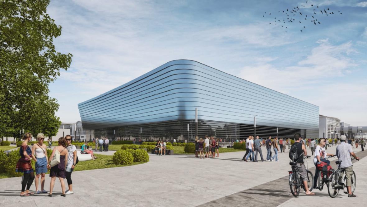 Nový pavilón D na brněnském výstavišti, vizualizace