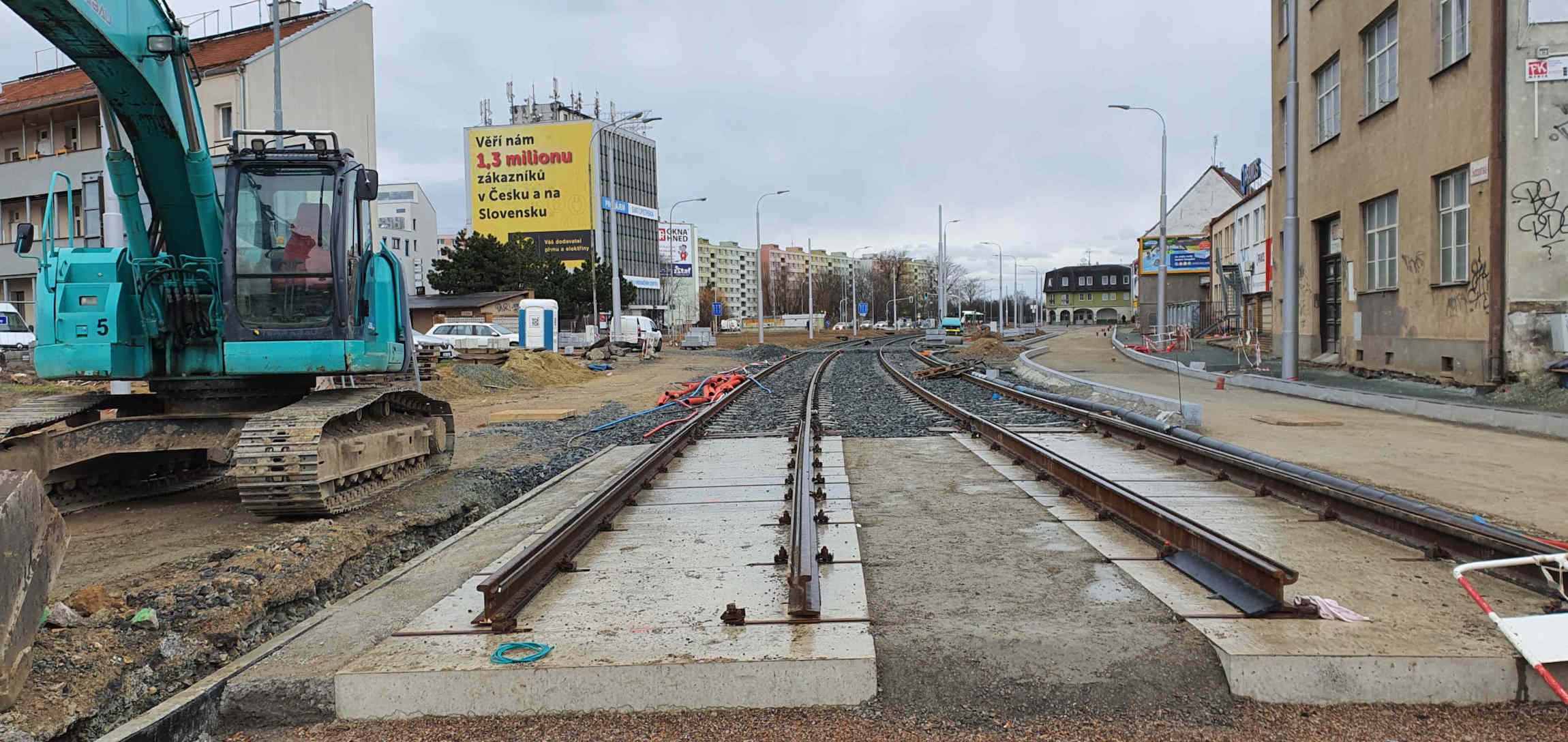 Svatopetrská ulice v Brně, únor 2020