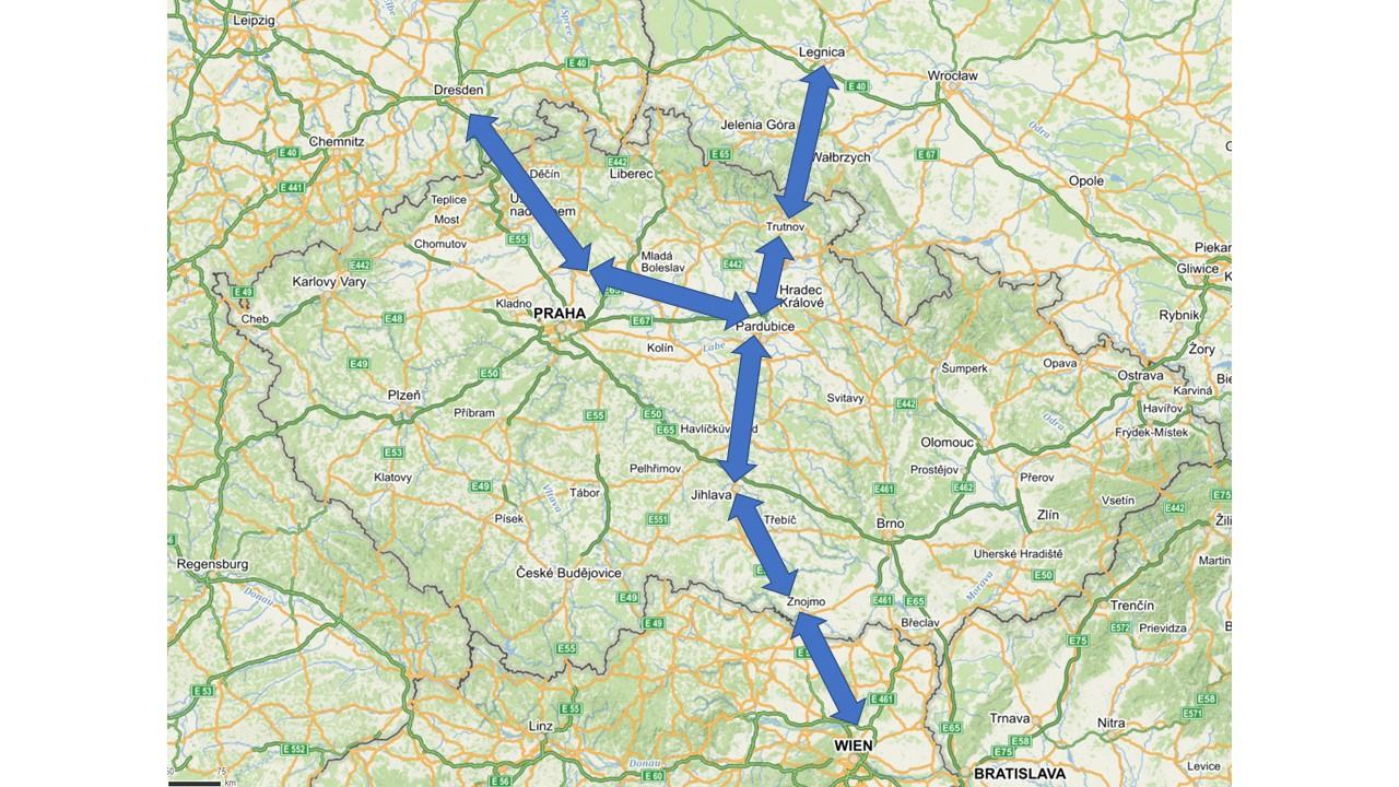 Návrh Sagitální dráhy