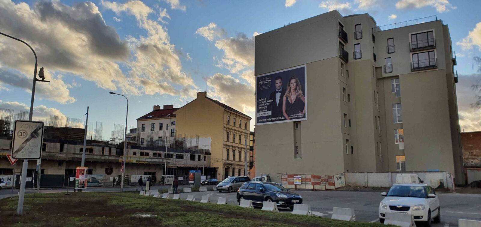 Roh ulice Křenová a Vlhká v Brně