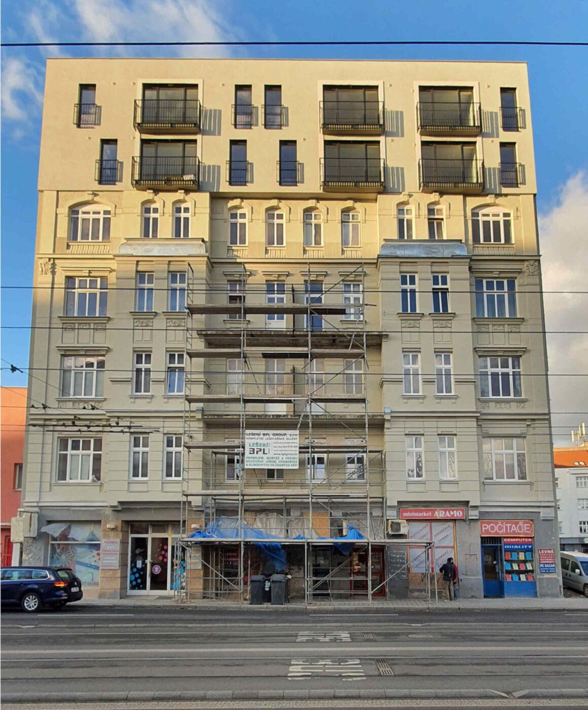 Ulice Křenová - nástavba
