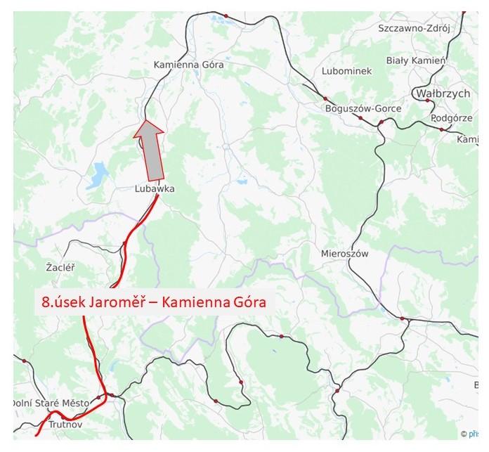 8.úsek sagitální dráhy Trutnov - Kamienna Gora