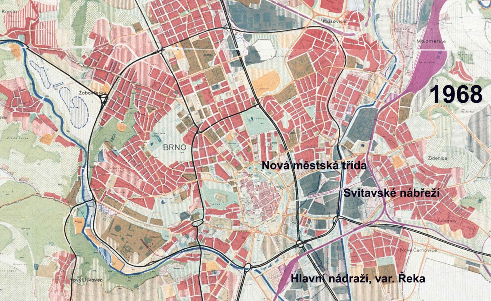Územní plánměsta Brna z roku 1968
