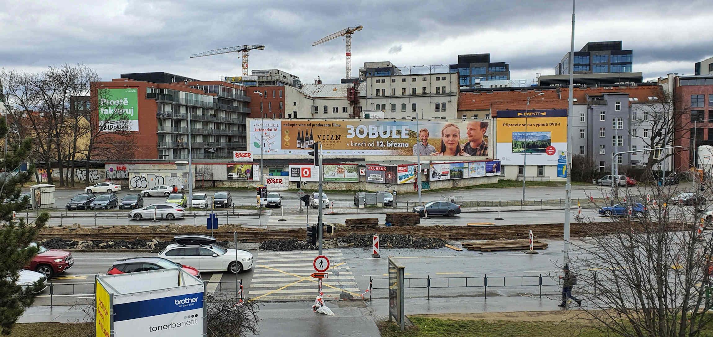 Ulice Dornych v únoru 2020