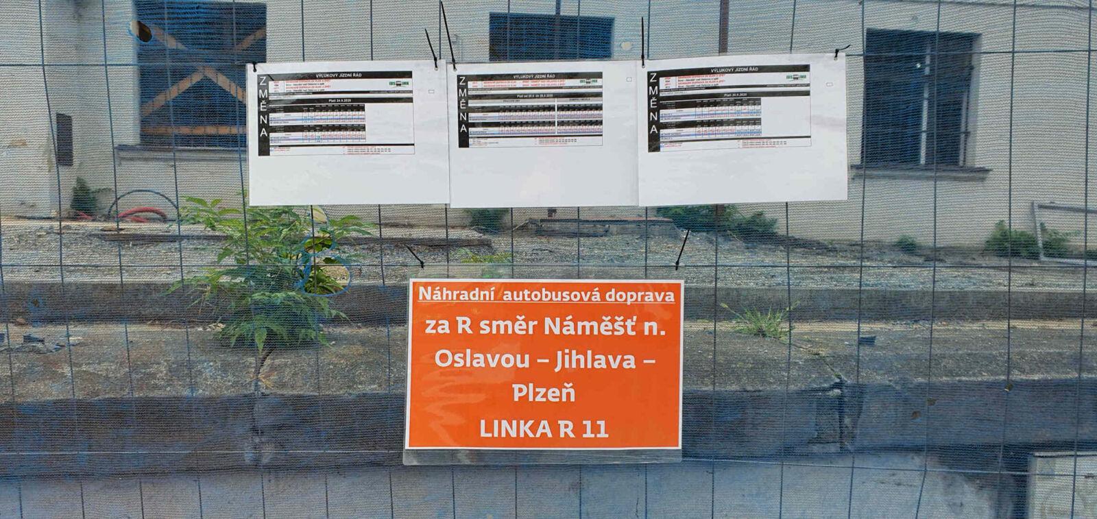 Stanoviště NAD za vlak v Brně