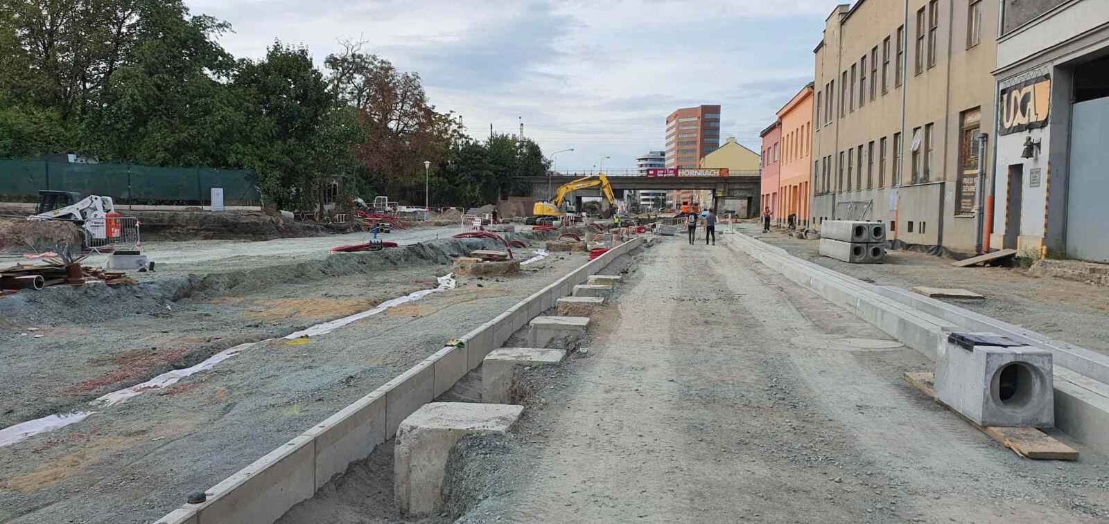 Ulice Plotní v září 2020
