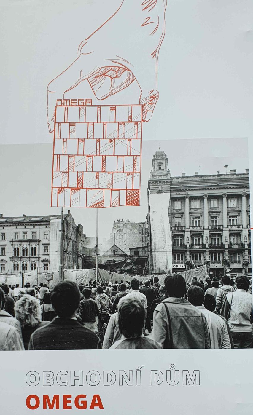 Bourání domu na náměstí Svobody