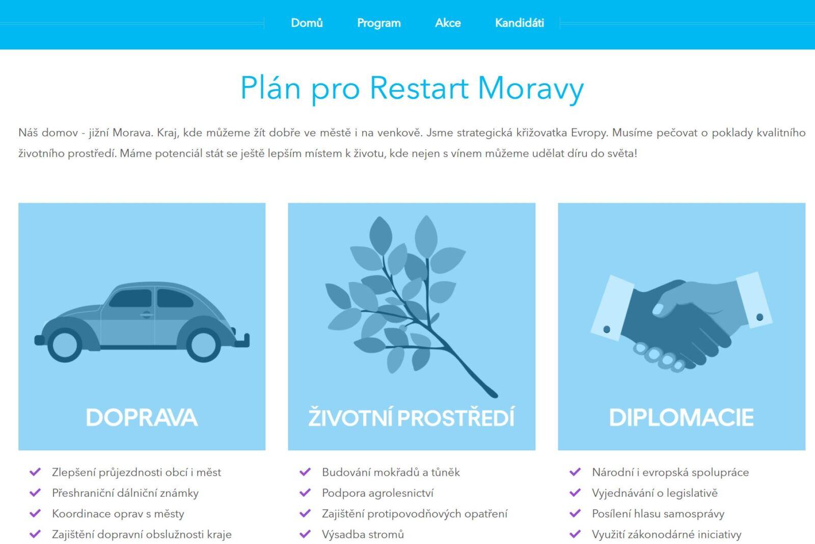 Volební program ODS Svobodní Starostové a osobnosti pro Moravu 2020