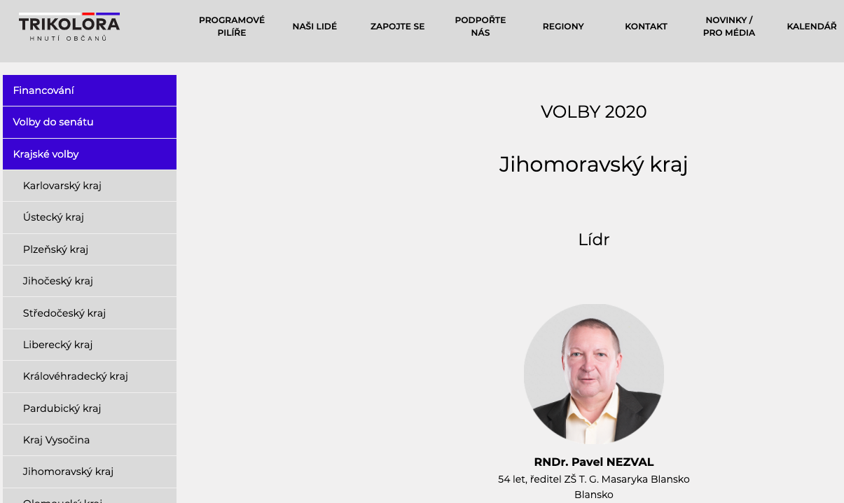 Volební program Trikolory před Krajskými volbami