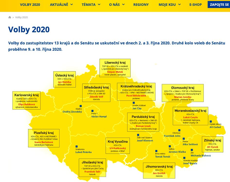 Volební program KDU-ČSL před Krajskými volbami