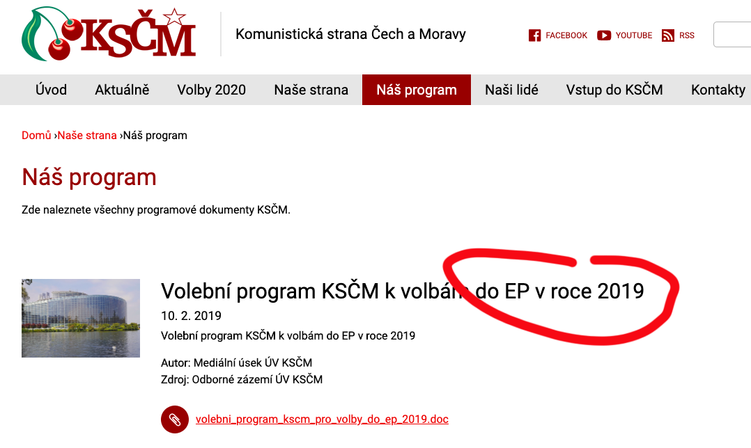 Volební program KSČM před Krajskými volbami