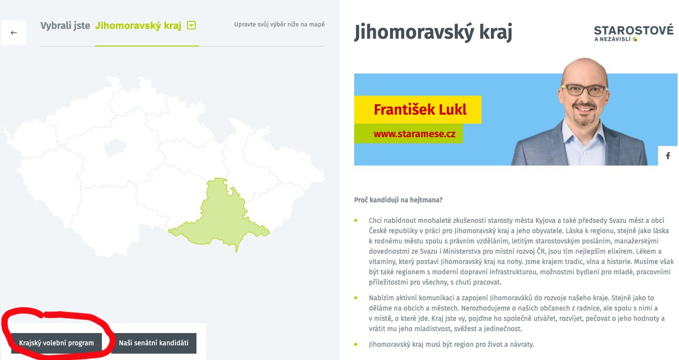 Volební program STAN před Krajskými volbami