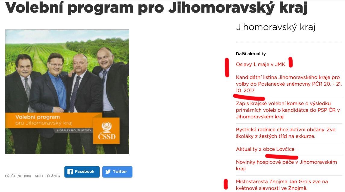 Volební program ČCSD před Krajskými volbami