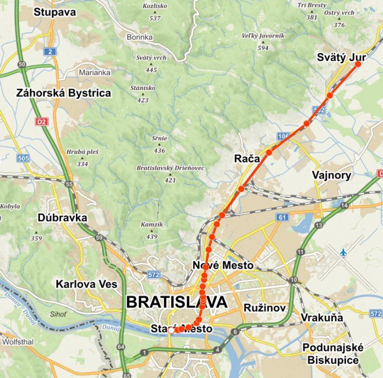 Vedení koňské dráhy v Bratislavě
