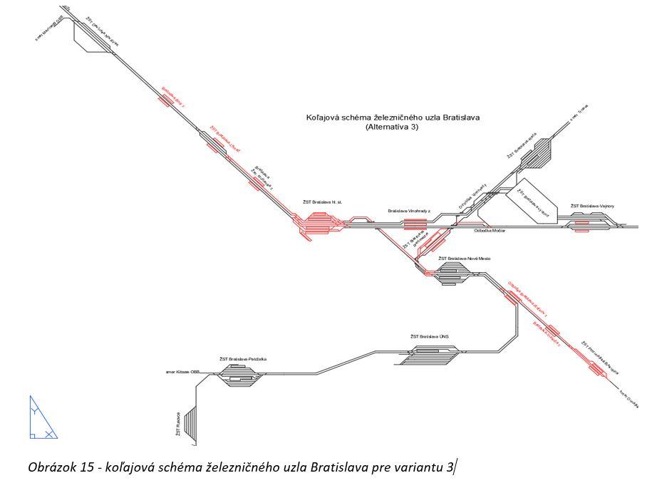 Studie proveditelnosti Železničního uzlu Bratislava, varianta 3