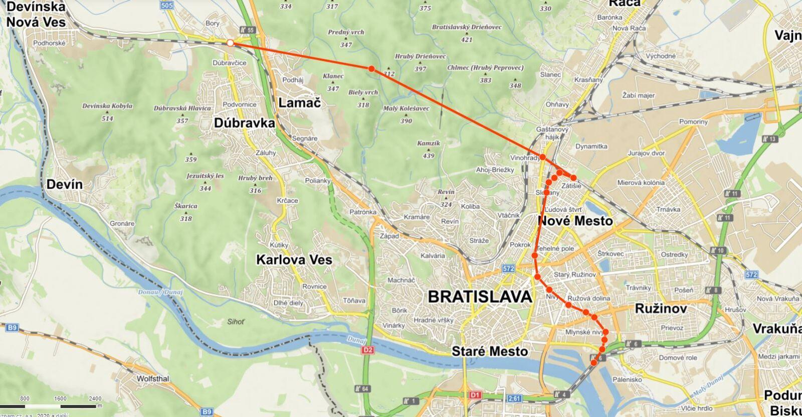Návrh řešení Železničního uzlu Bratislava