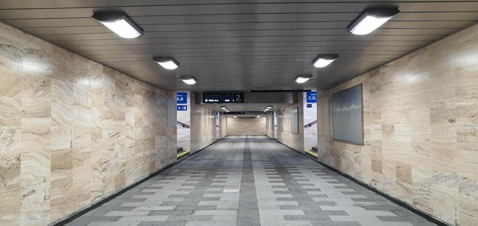 Podchod pod brněnským hlavním nádražím