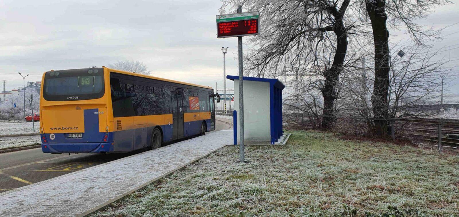 Šakvice autobusová zastávka