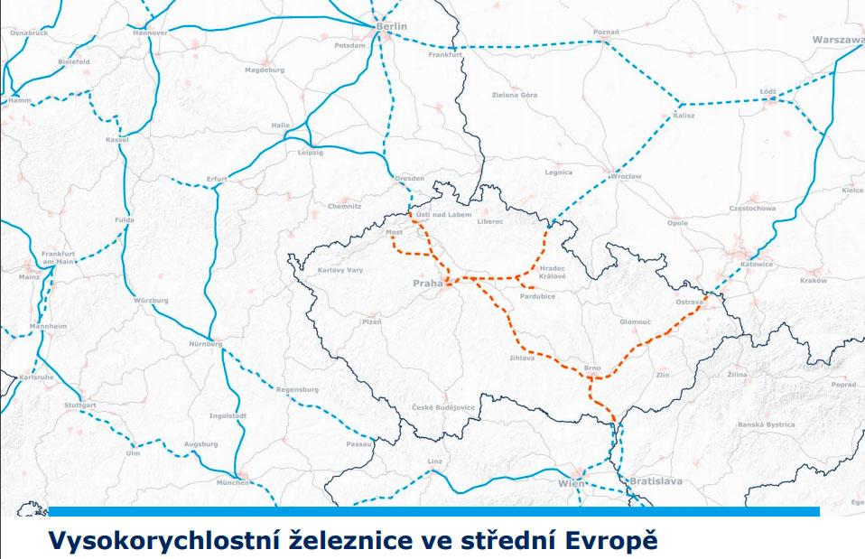 Vysokorychlostní železnice ve střední Evropě