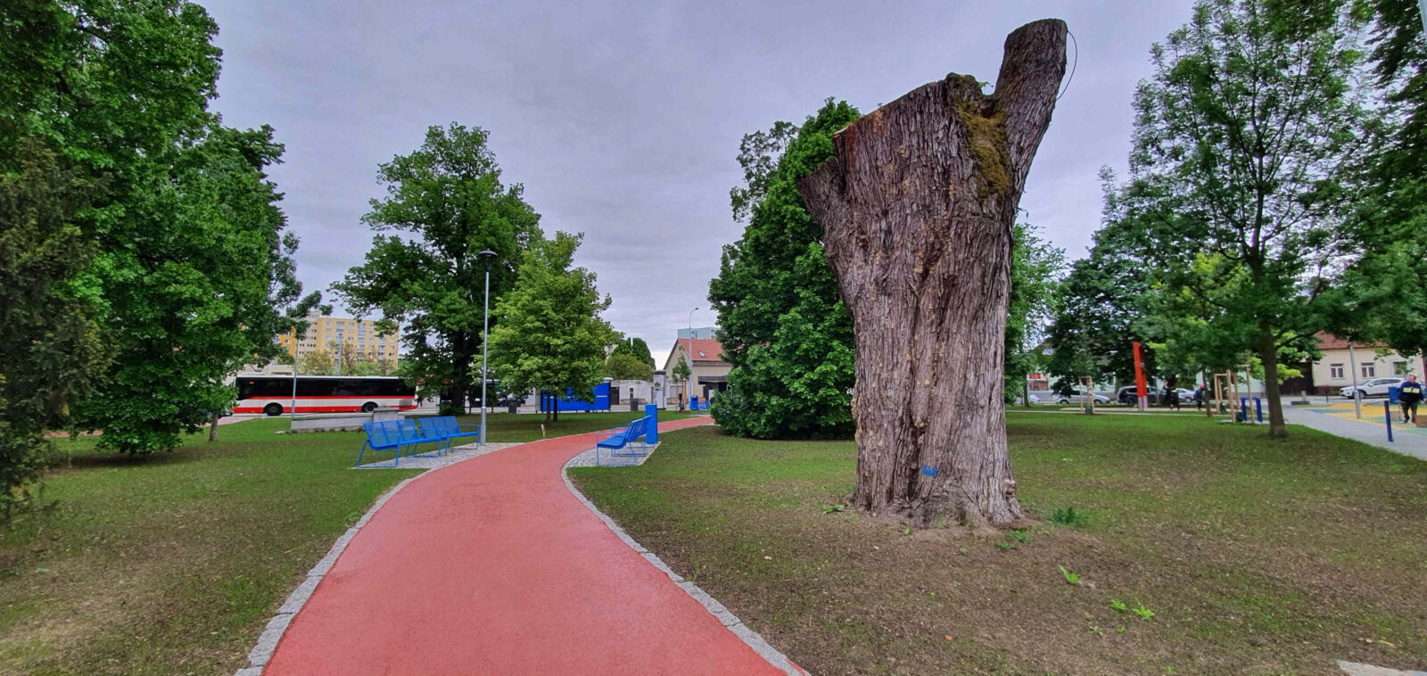 Nový park na Palackého náměstí v Brně