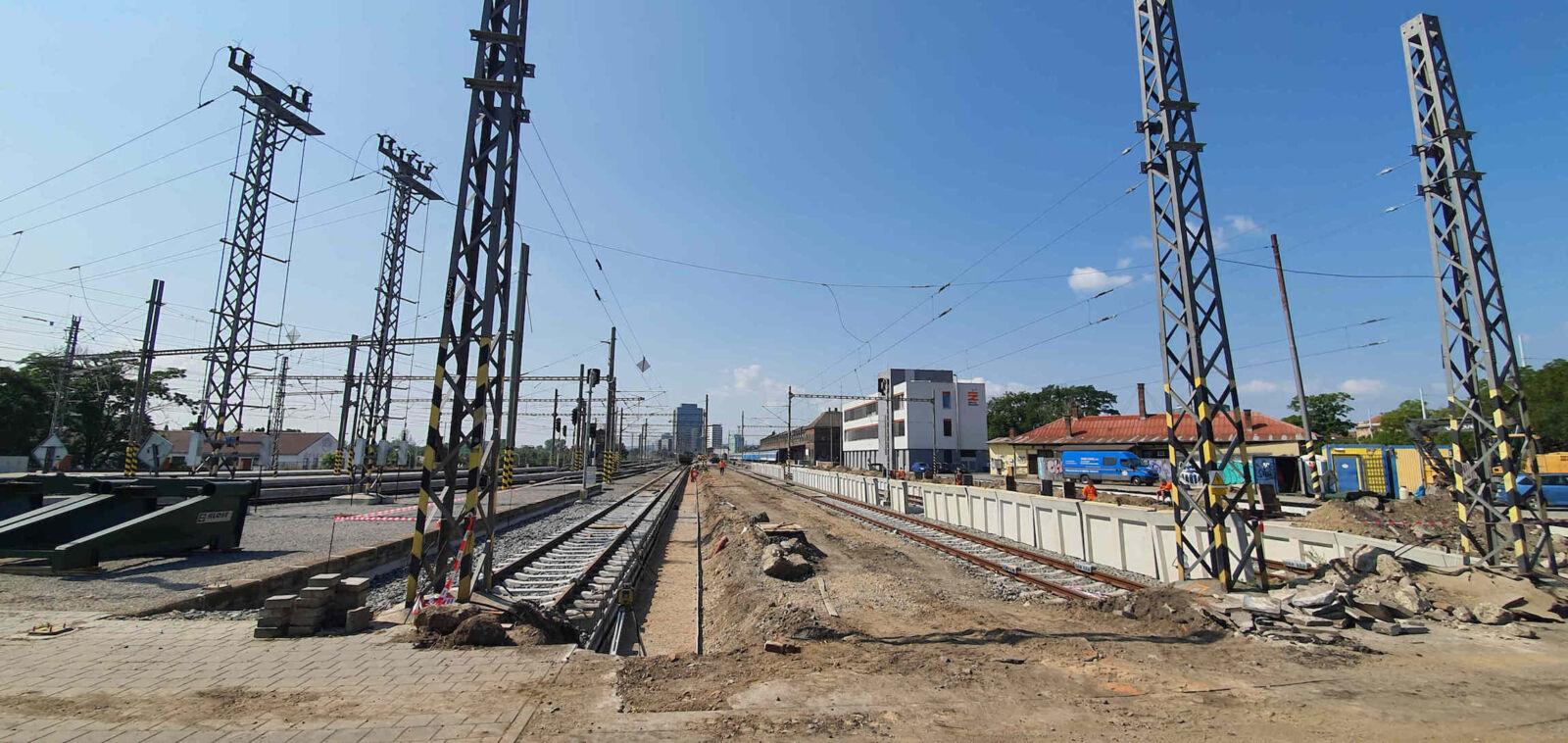 Rekonstrukce 5. a 6. nástupiště na brněnském hlavním nádraží, 2021