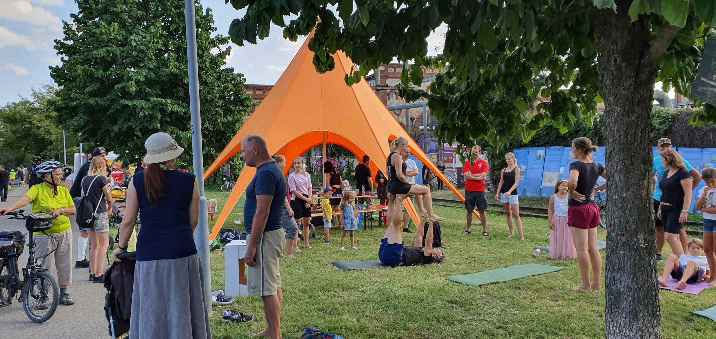 Festival Překročme řeku: nábřeží Svitavy 2021
